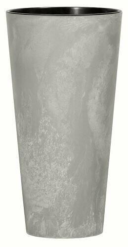 Lonček za rože TUBUS SLIM BETON NOV siv 40 cm