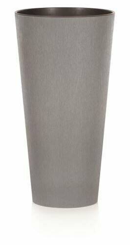Lonček za rože TUBUS SLIM CONCRETE siv 15 cm