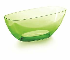 Posoda COUBI ORCHID zelena prozorna 36,0 cm