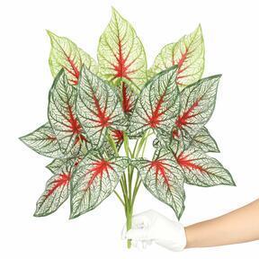 Umetna rastlina Calladium večbarvna 50 cm