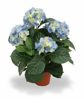 Umetna rastlina Hortenzija modra 45 cm