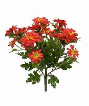 Umetna rastlina krizantema oranžna 35 cm