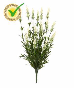 Umetna rastlina sivka bela 50 cm