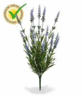 Umetna rastlina sivkina modra 50 cm