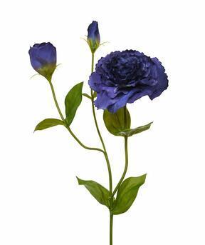 Umetna veja Eustoma modra 80 cm