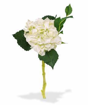 Umetna veja Hortenzija bela 38 cm