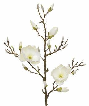 Umetna veja Magnolia krema 100 cm
