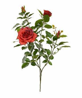 Umetna veja Rdeča vrtnica 70 cm