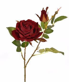 Umetna veja Rose bordo 60 cm