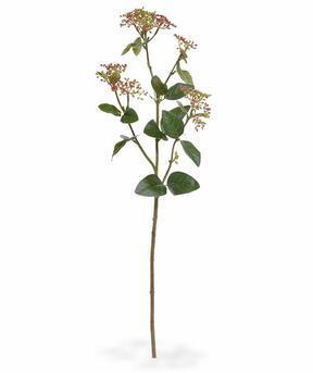 Umetna veja Viburnum lovor rdeča 81 cm