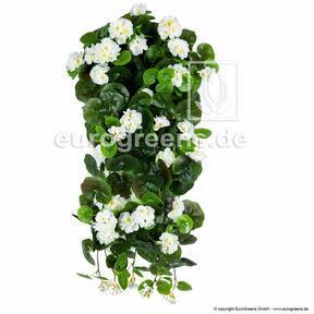 Umetna vitica Geranium bela 70 cm