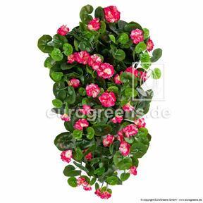 Umetna vitica Geranium rdeča 70 cm