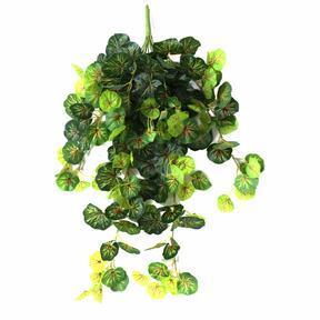 Umetna vitica Geranium zeleno-rdeča 80 cm