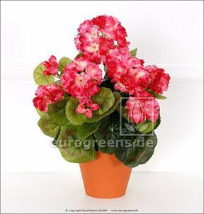 Umetni šopek Geranium svetlo roza 40 cm