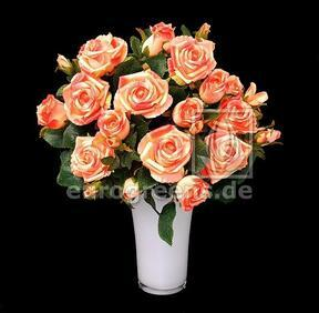 Umetni šopek Rose roza-marelična 50 cm