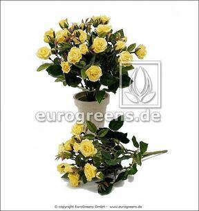 Umetni šopek Rumena vrtnica 25 cm