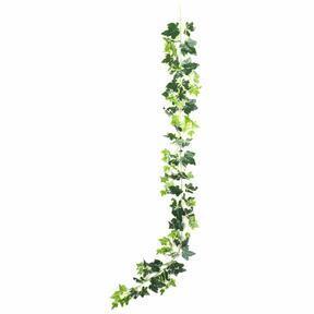Umetni venec Ivy belo-zelen 190 cm