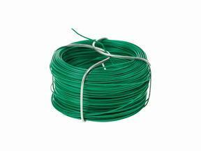 Vezivna žica za umetno živo mejo, plastificirana zelena 1,2 mm - tuljava 25 m